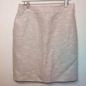 Banana Republic Ivory Tweed Pencil Skirt 10